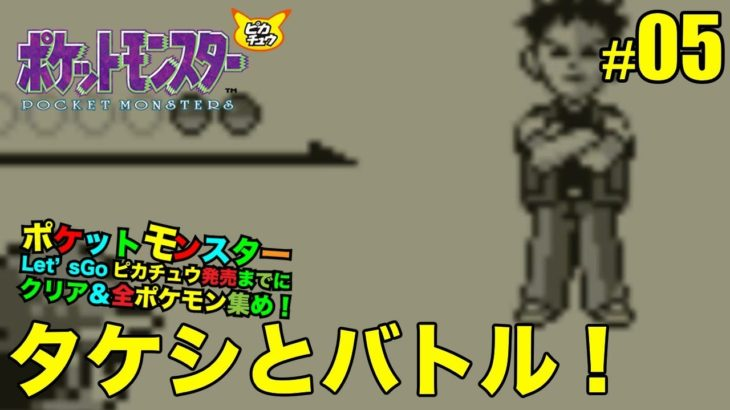 【ポケットモンスター ピカチュウ】ニビシティでタケシとバトル! #05